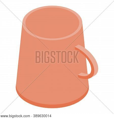Mug Cup Icon. Isometric Of Mug Cup Vector Icon For Web Design Isolated On White Background