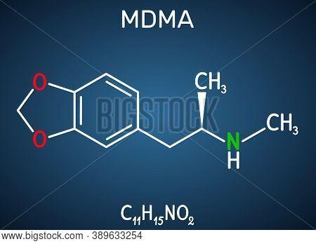3,4-methylenedioxymethamphetamine, Mdma, Xtc, Ecstasy Molecule. It Is Psychoactive, Hallucinogen Dru