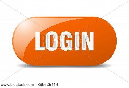 Login Button. Login Sign. Key. Push Button.