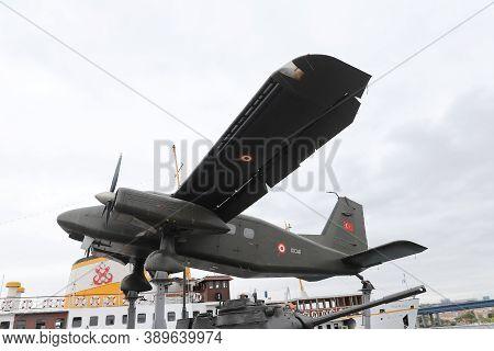Istanbul, Turkey - September 20, 2020: Dornier Do 28 D-2 Skyservant In Rahmi M. Koc Industrial Museu