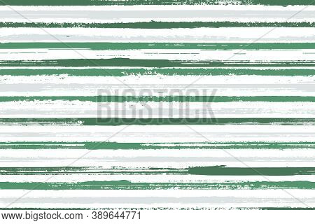Ink Brush Stroke Parallel Lines Vector Seamless Pattern. Pretty Summer Fashion Design. Old Style Geo
