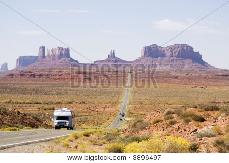 Driving Through Monument Valley