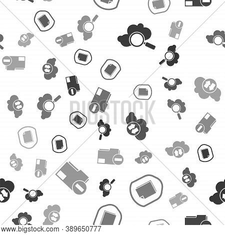 Set Search Cloud Computing, Document Protection Concept, Cloud Download And Upload And Document Fold