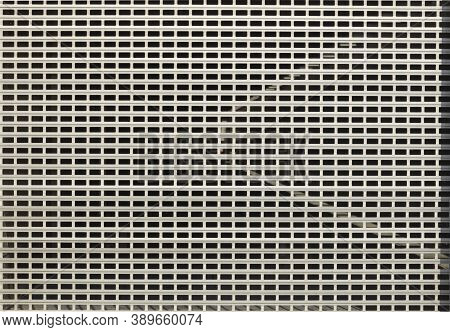 Wall Texture From A Metal Lattice. Abstract Lattice For Wallpaper