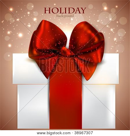 Elegant background with Christmas gift