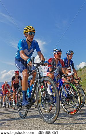 Revel, France, September 15, 2020 : Inside The Peloton Of Tour De France. Tour De France Has Been De