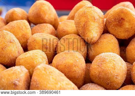 Sicilian Arancini (italian Rice Balls) Traditional Street Food In Italy.