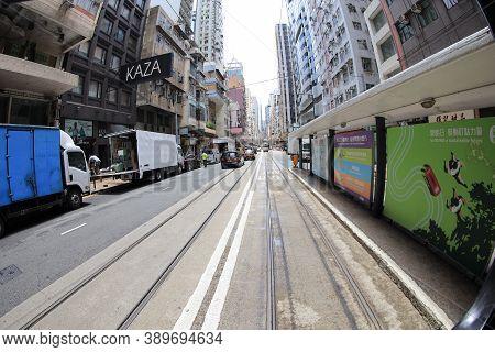 8 July 2020 A Street Of Sai Wan On Hong Kong Island.
