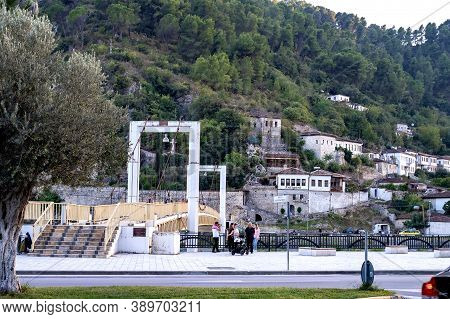 Berat, Albania. October 2020. Old Town In Also Called City Of A Thousand Windows., World Heritage Si