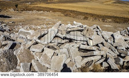 Environmental Solid Waste, Polluting The Environment, Concrete Waste, Construction Waste,