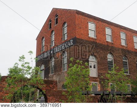 Richmond, Usa - June 7, 2019: The Site Of The Former Tredegar Ironworks Factory That Now Houses The