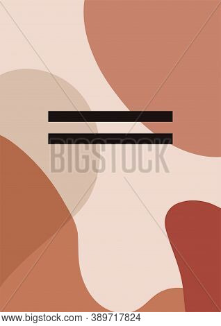 Abstract Vector Background With Warm Colors. Contemporary Art. Art Fashion Composition In Modern Sty