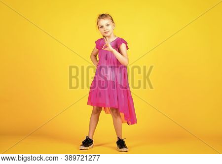 Cute And Stylish. Fashion Model Posing. Her Trendy Style. Elegant Formal Look. Stylish Fashion Child