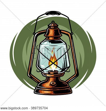 Colored Camping Kit Kerosene Lamp Old Lantern
