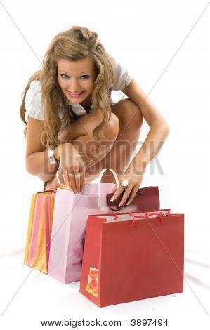 Shopping Smile Woman.