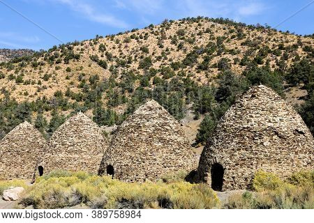 October 4, 2020 In Death Valley, Ca:  Historical Kilns Which Were Ovens To Create Charcoal For Minin