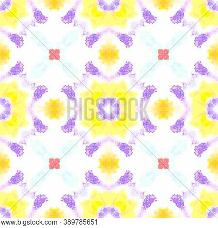 Seamless Aquarelle Pattern. Abstract Aquarelle Dyed Texture. Colorful Summer Background. Artistic Pa