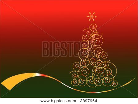 Christmas Gold Card