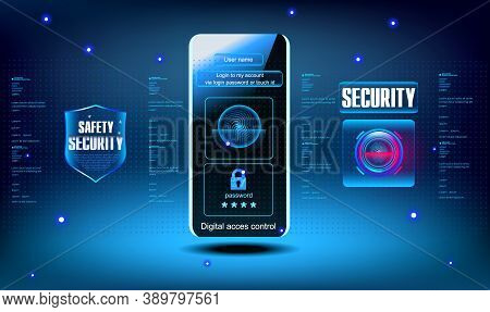 Login And Password. Login Via Mobile App. Login Via Password Or Touch Id. Access To Personal Data Th