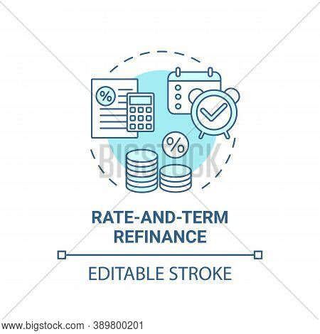 Rate-and-term Refinance Concept Icon. Mortgage Refinancing Type Idea Thin Line Illustration. Paying