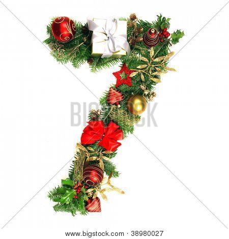 Christmas Alphabet Number 7