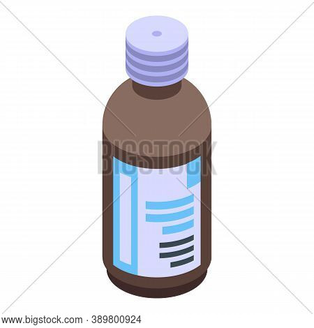 Mouthwash Bottle Icon. Isometric Of Mouthwash Bottle Vector Icon For Web Design Isolated On White Ba
