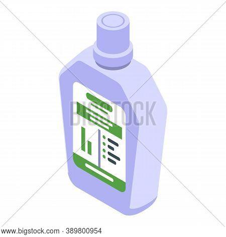 Dental Mouthwash Icon. Isometric Of Dental Mouthwash Vector Icon For Web Design Isolated On White Ba
