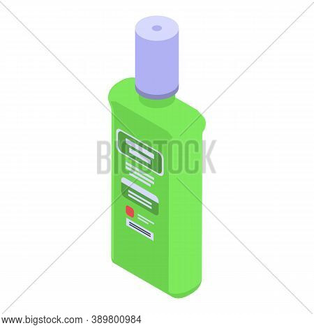 Herbal Mouthwash Icon. Isometric Of Herbal Mouthwash Vector Icon For Web Design Isolated On White Ba