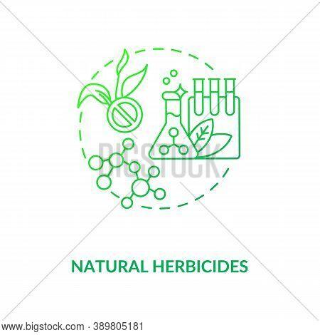 Natural Herbicides Concept Icon. Organic Farming Coorporation Principles. Organic Gardening Sprays C
