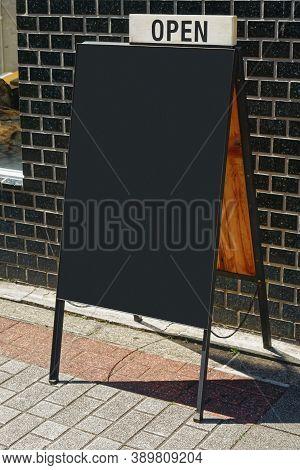 Mock Up Menu Chalkboard Sign Stand Blank Blackboard Cafe Restaurant