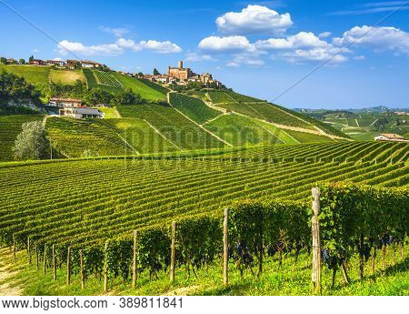 Langhe Vineyards And Castiglione Falletto Village, Unesco Site, Piedmont, Northern Italy Europe.