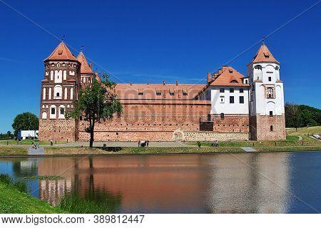 Mir, Belarus - 11 Jun 2015. Mir Castle In The Center Of Belarus Country
