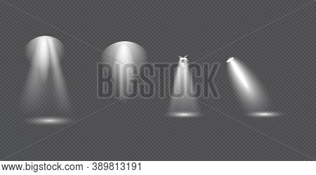 Scene Illumination Big Collection, Concert Lighting, Stage Spotlights. Spot Lighting Of The Stage. T