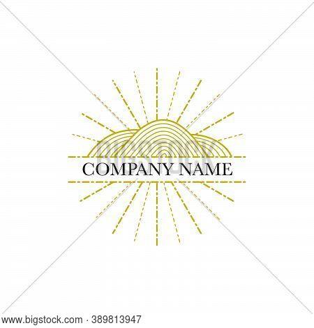 Minimal Logo Design In Trendy Minimal Eco Style, Fashion Brand Insignia Isolated On White Background