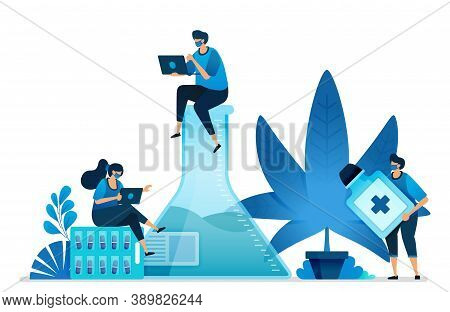 Cannabis And Marijuana Research For Health. Ganja Plant For Industry. Medical Raw Herbs For Health R