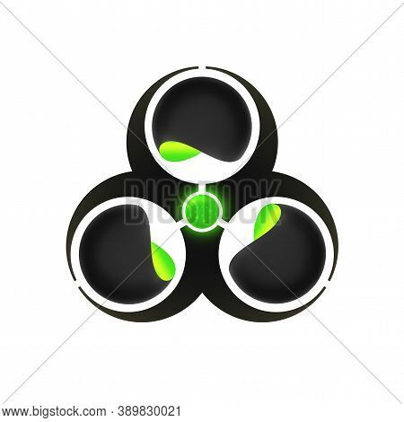 Biohazard Research Logo Template, Colorful Vector Graphic Design Element For Business, Disposal Of H