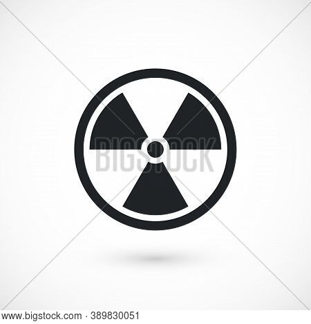 Black Radiation Symbol Isolated On White Background, Nuclear Vector Illustration With Clipping Path