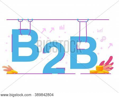 B2b Factory Assembly Line .business-to-business. Communication Marketing.