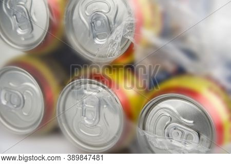 Pack Of A Beer Can. Alcohol Drink