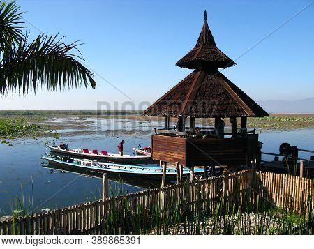 Inle Lake, Myanmar - 10 Jan 2010: The Hotel On Inle Lake, Myanmar