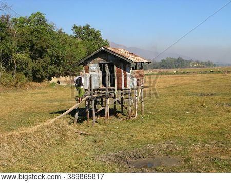 Inle Lake, Myanmar - 10 Jan 2010: The Toilet In The Village On The Coast Of Inle Lake, Myanmar