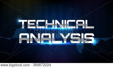 Abstract Background Of Technical Analysis Trading Stock Market Macd Indicator Technical Analysis Gra