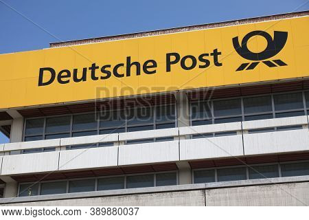 Wuppertal, Germany - September 19, 2020: Deutsche Post (german Post) Building In Wuppertal, Germany.