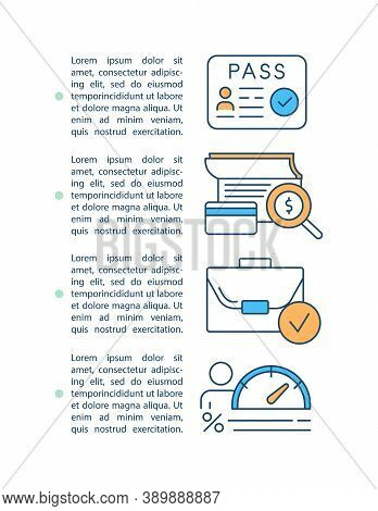 Loan Processing Concept Icon With Text. Approved Financial Contract. Calculate Rate. Identify Person