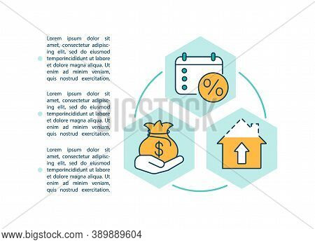 Refinancing House Loan Concept Icon With Text. Debt Consolidation. New Loans Mortgage Rate. Ppt Page