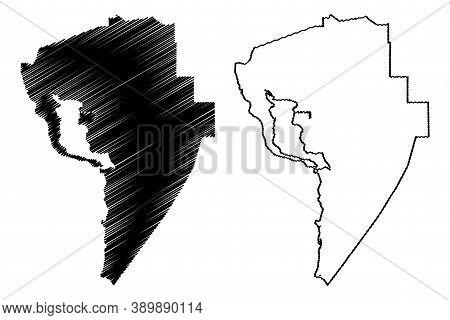 Assumption County, Louisiana (u.s. County, United States Of America, Usa, U.s., Us) Map Vector Illus
