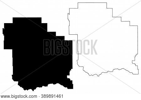 Judith Basin County, Montana (u.s. County, United States Of America, Usa, U.s., Us) Map Vector Illus