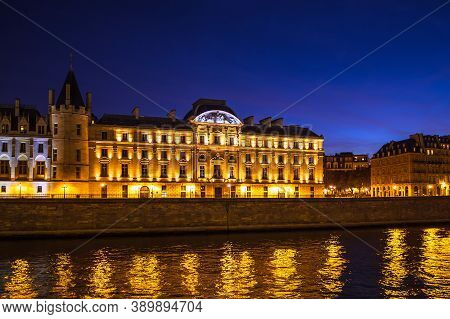 View To Buildings On The River Seine In Paris, France.