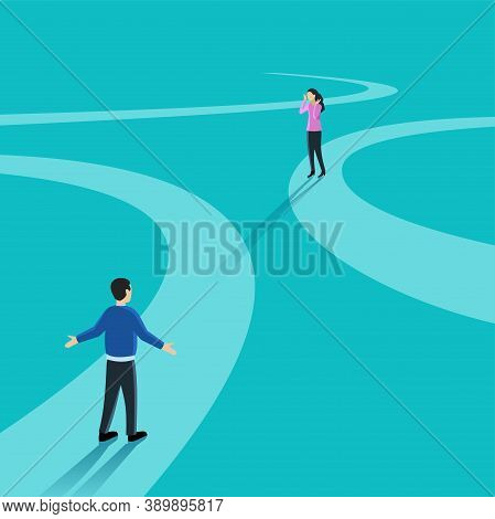 Sudden Twist Of Fate - Difficult Relationship - Meeting Or Dating Of Man And Woman On Non-overlappin