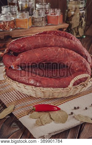 Tipical Pork Smoked Sausage - Linguica Defumada